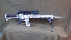 Custom Ar-15 Snow camo_1