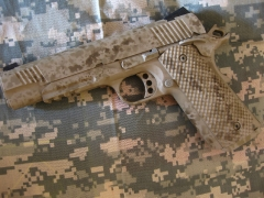 Custom Camo ar-15 and 1911_2