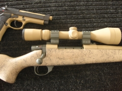 Weatherby rifle and scope_1