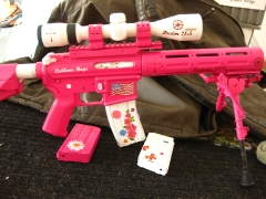 Tactical Ar-15 in pink and white_8